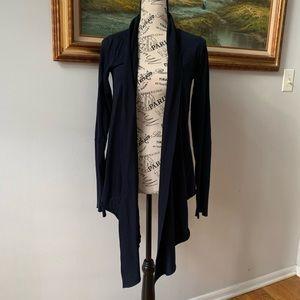 Velvet Graham & Spencer blue waterfall cardigan